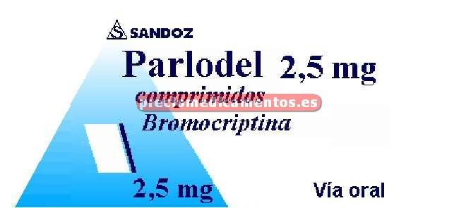 Caja PARLODEL 2.5 mg 30 comprimidos
