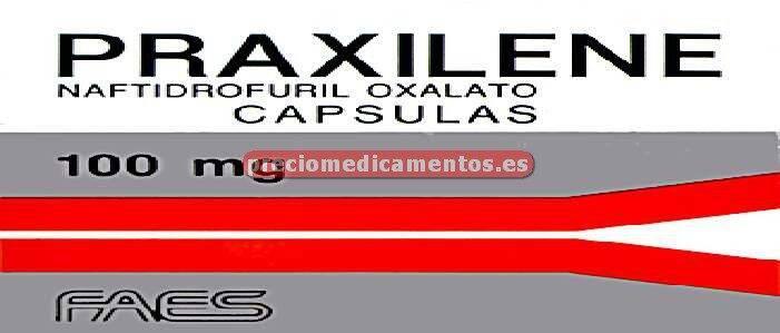 Caja PRAXILENE 100 mg 50 cápsulas