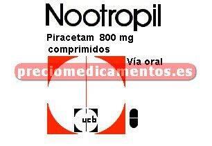 Caja NOOTROPIL 800 mg 60 comprimidos