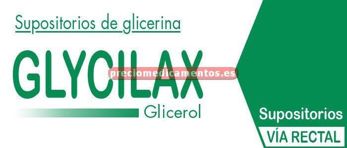 Caja SUPOSITORIOS GLICERINA GLYCILAX ADULTOS 3,31g 12 supos