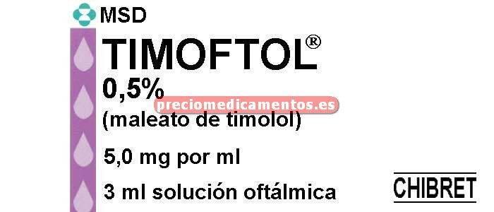 Caja TIMOFTOL 0.5% colirio 3 ml