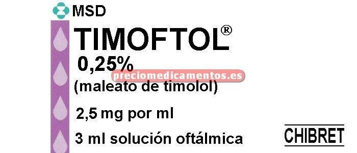 Caja TIMOFTOL 0.25% colirio 3 ml