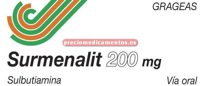 Caja SURMENALIT 200 mg 30 grageas