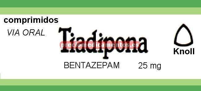 Caja TIADIPONA 25 mg 30 comprimidos