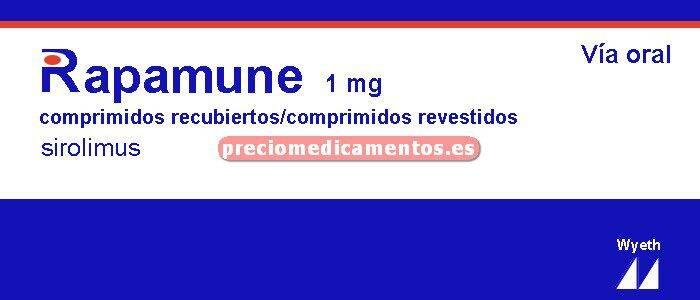 Caja RAPAMUNE 1 mg 100 comprimidos recubiertos