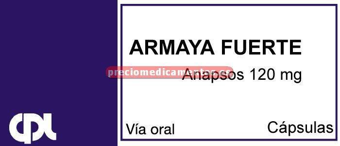 Caja ARMAYA FUERTE 120 mg 24 cápsulas
