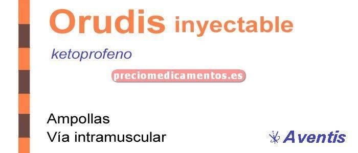 Caja ORUDIS 100 mg 6 ampollas 2 ml solución inyectable