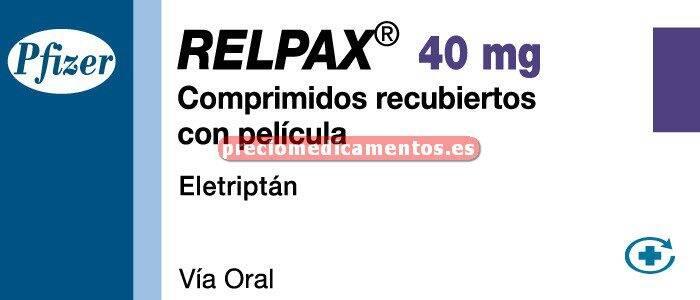 Caja RELPAX 40 mg 2 comprimidos cub pelicular