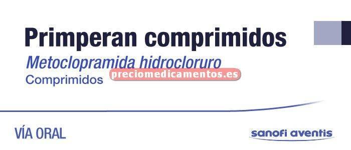 Caja PRIMPERAN 10 mg 30 comprimidos