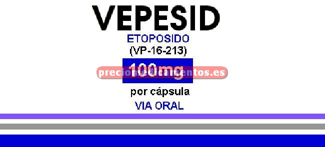 Caja VEPESID 100 mg 10 cápsulas