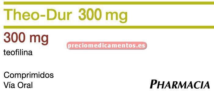 Caja THEO DUR RETARD 300 mg 40 comprimidos lib control