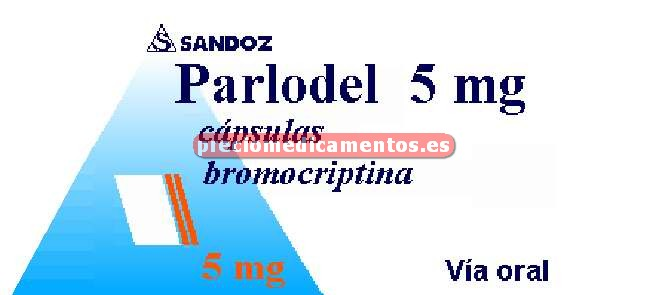 Caja PARLODEL 5 mg 50 cápsulas