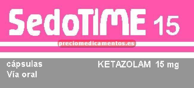 Caja SEDOTIME 15 mg 30 cápsulas