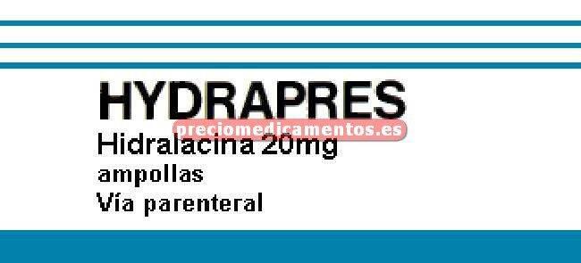 Caja HYDRAPRES 20 mg 5 inyectables 1 ml