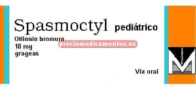 Caja SPASMOCTYL PEDIÁTRICO 10 mg 60 grageas