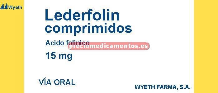 Caja LEDERFOLIN ORAL 15 mg 10 comprimidos