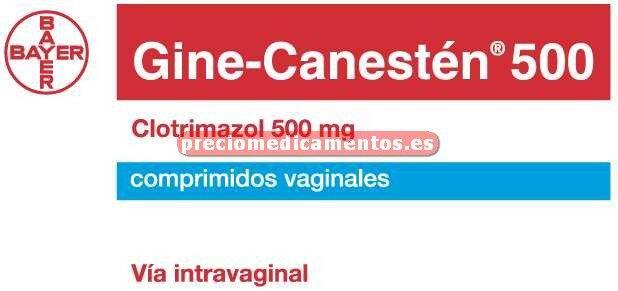Caja GINE CANESTEN 500 mg 1 comprimido