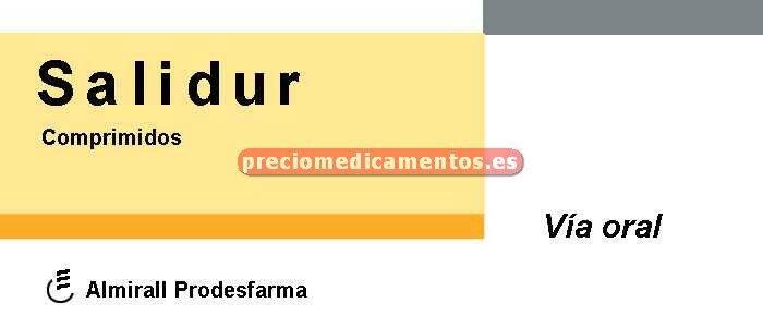 Caja SALIDUR 25/77.6 mg 60 comprimidos