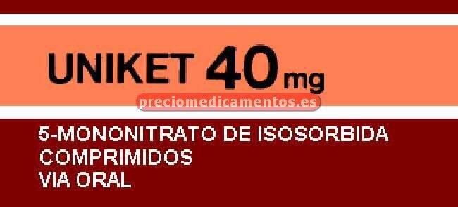 Caja UNIKET 40 mg 20 comprimidos