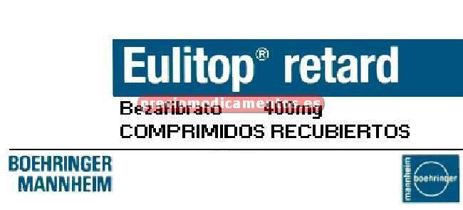Caja EULITOP RETARD 400 mg 30 comprimidos