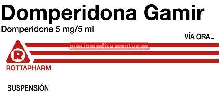 Caja DOMPERIDONA GAMIR 5 mg/5 ml suspensión oral 200 ml