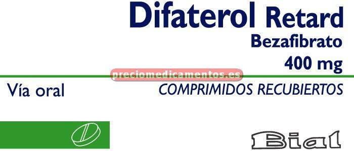 Caja DIFATEROL RETARD 400 mg 30 comprimidos recubiertos