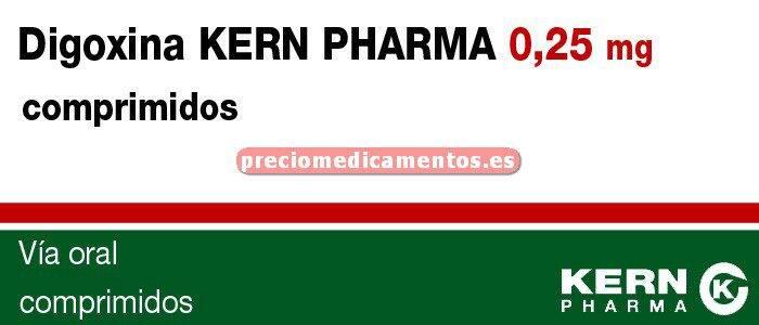 Caja DIGOXINA KERN PHARMA 0,25 mg 50 comprimidos