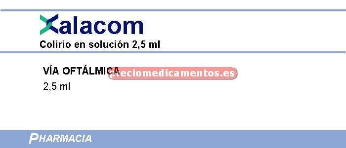 Caja XALACOM colirio 1 frasco 2.5 ml