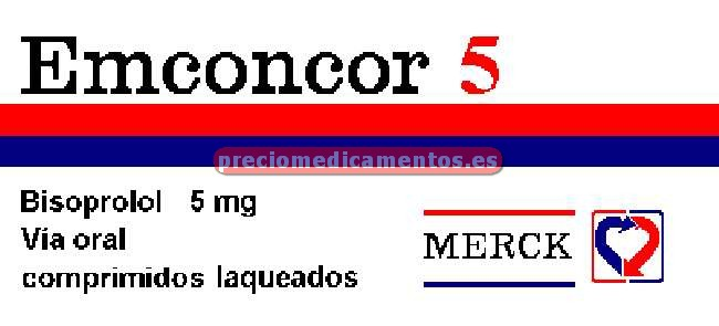 Caja EMCONCOR 5 mg 30 comprimidos recubiertos