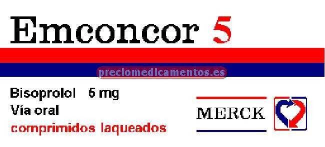 Caja EMCONCOR 5 mg 60 comprimidos recubiertos