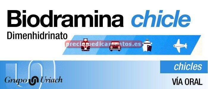 Caja BIODRAMINA 20 mg 6 chicles