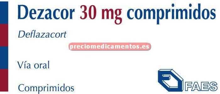 Caja DEZACOR 30 mg 10 comprimidos
