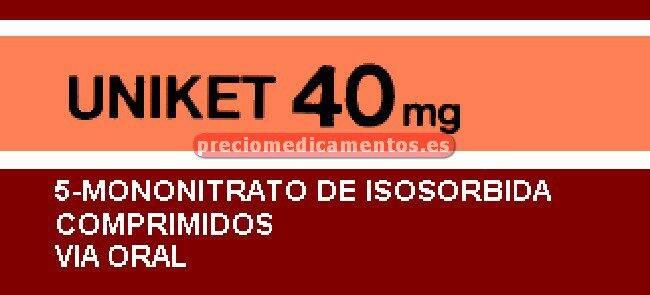 Caja UNIKET 40 mg 40 comprimidos