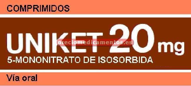 Caja UNIKET 20 mg 80 comprimidos