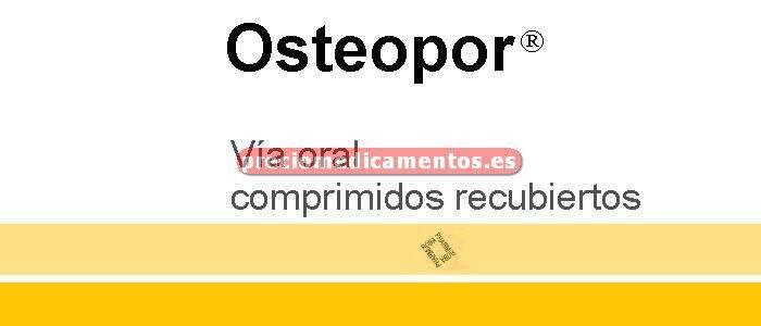 Caja OSTEOPOR 830 mg 40 comprimidos recubiertos