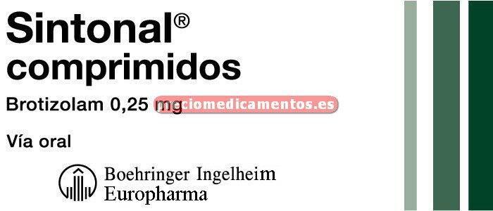 Caja SINTONAL 0,25 mg 20 comprimidos