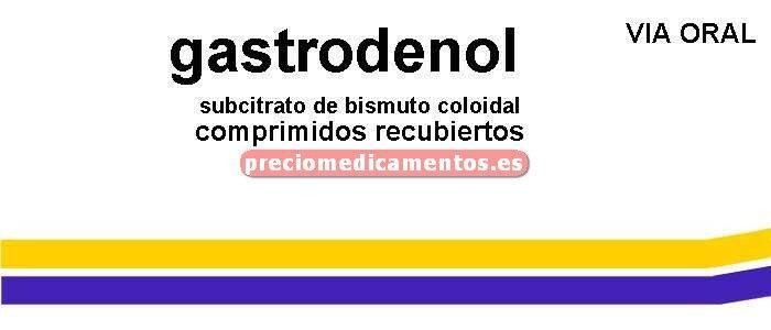 Caja GASTRODENOL 120 mg 50 comprimidos recubiertos