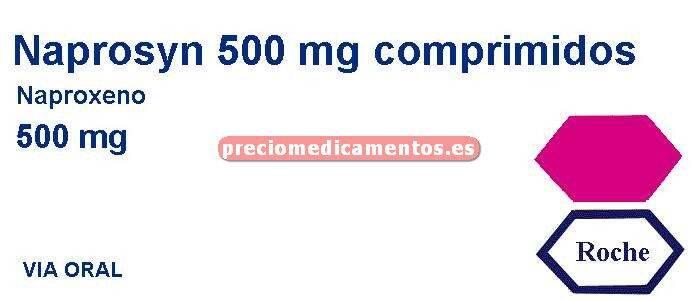 Caja NAPROSYN 500 mg 40 comprimidos