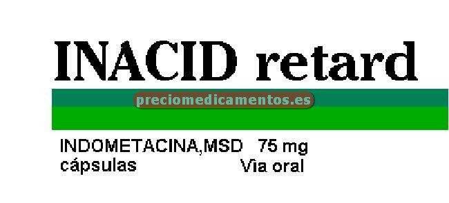 Caja INACID RETARD 75 mg 20 cápsulas