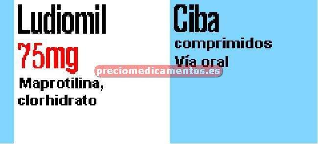 Caja LUDIOMIL 75 mg 28 comprimidos