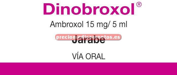 Caja DINOBROXOL 15 mg/5 ml jarabe 200 ml