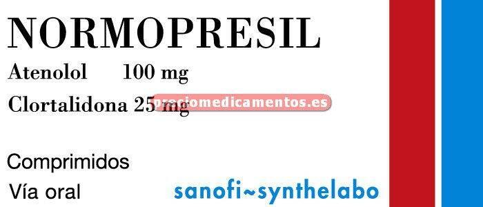 Caja ATENOLOL/CLORTALIDONA QUALIGEN 100/25 mg 56 comprimidos