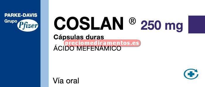 Caja COSLAN 250 mg 20 cápsulas