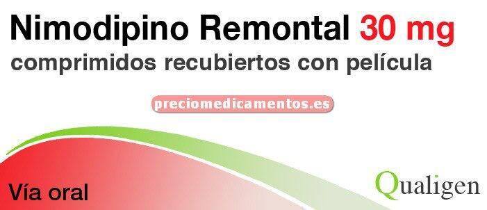 Caja NIMODIPINO REMONTAL 30 mg 30 comprimidos