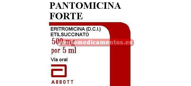 Caja PANTOMICINA FORTE 500mg/5ml suspensión oral 100ml
