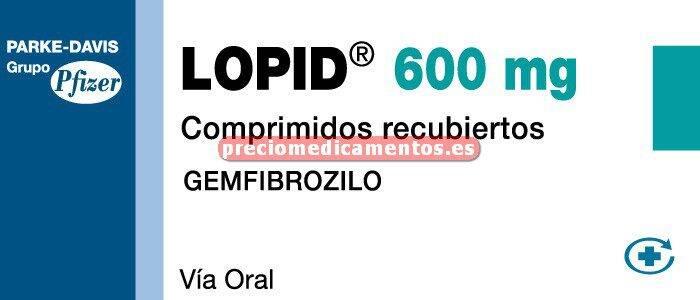 Caja LOPID 600 mg 60 comprimidos