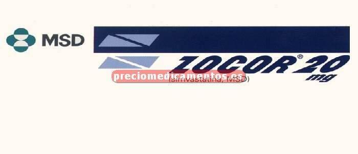 Caja ZOCOR 20 mg 28 comprimidos recubiertos