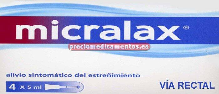 Caja MICRALAX 4 microenemas 5 ml