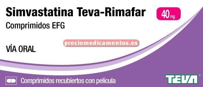 Caja SIMVASTATINA TEVA-RIMAFAR EFG 40 mg 28 compr recub