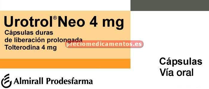 Caja UROTROL NEO 4 mg 28 cápsulas liberación prolongada